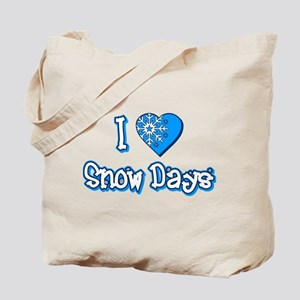 I Love [Heart] Snow Days Tote Bag
